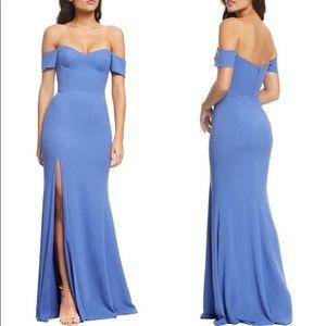 Dress the Population long blue dress Size L 12-14
